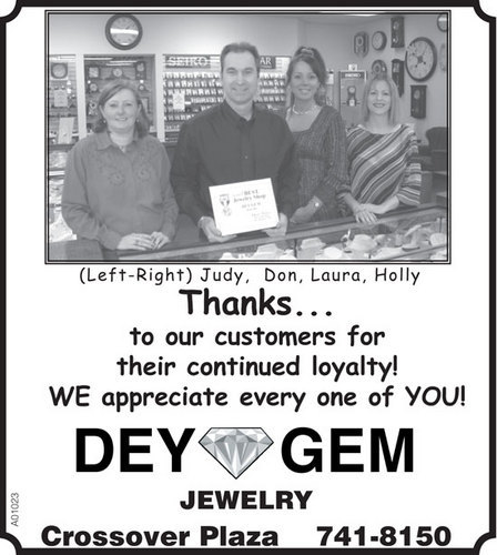 Thanks to our customers!